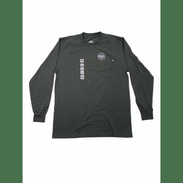 DICKIES - Long Sleeve Heavyweight Crew Neck T-Shirt Charcoal