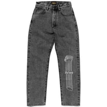 Aries Acid Wash Batten Jeans - Grey