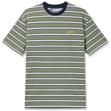 Butter Goods Beach Stripe T-Shirt - Spruce