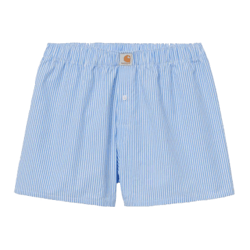 Carhartt WIP Cotton Boxers - Wave Blue