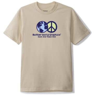 Butter Goods World Peace T-Shirt - Sand