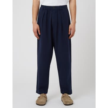 Universal Works Pleated Track Pants - Navy Blue