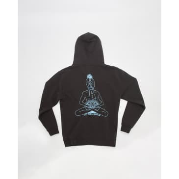 Good Morning Tapes Inner Peace Pullover Hood - Charcoal Black