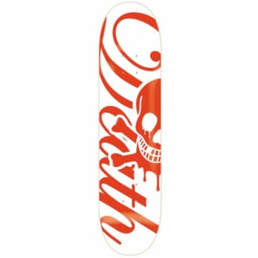 Death Skateboards 'Script' Red/White Deck 8""