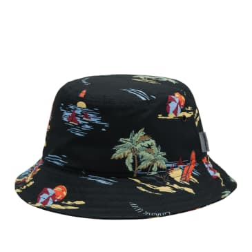 Carhartt WIP Beach Bucket Hat - Beach Print / Black