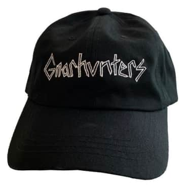 GNARHUNTERS CLASSIC EMBROIDERED HAT - BLACK