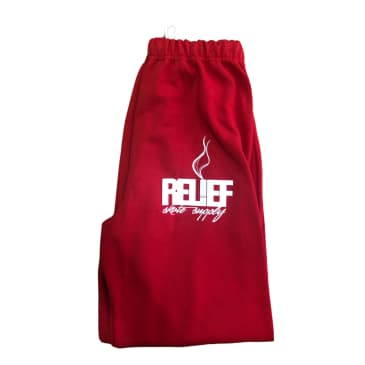 RELIEF SWEAT PANTS RED