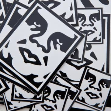 OBEY Icon Face Stickers