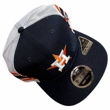 New Era Hat 950 Houston Astros Stripe Trucker Navy Orange White Snapback