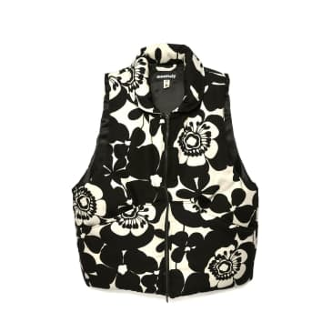 Monitaly Hiking Vest - Cotton Flower Black / White