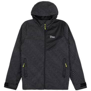 Dime Warp Shell Windbreaker - Black