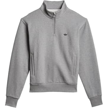 adidas Skateboarding Heavyweight Shmoofoil 1/4 Zip Sweatshirt - Core Heather / Black