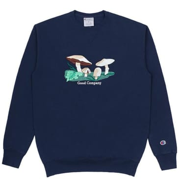 The Good Company Fungi Crewneck - Navy
