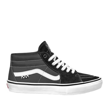 Vans Skate Grosso Mid Shoes - Black / White / Emo Leather