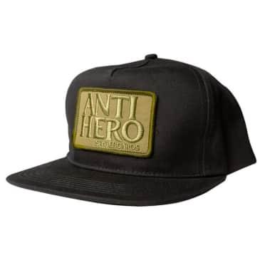 Anti Hero Reserve Patch Black/Olive Snapback Cap
