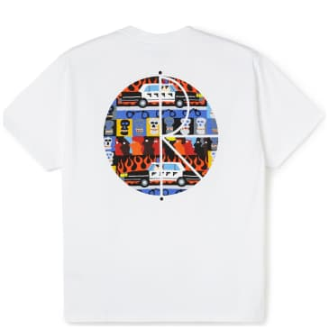 Polar Skate Co ACAB Fill Logo T-Shirt - White