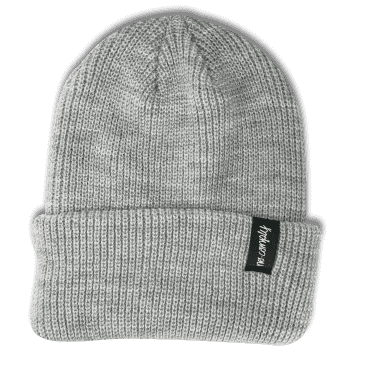 No-Comply Script Beanie Light Grey Low Crown