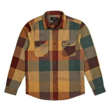 Brixton Bowery Flannel - Rust/Copper