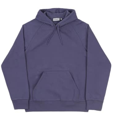 Carhartt WIP Chase Pullover Hooded Sweatshirt - Cold Viola / Gold