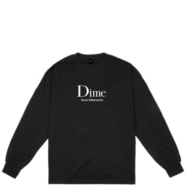 Dime Sous-Vetements Long Sleeve T-Shirt - Black