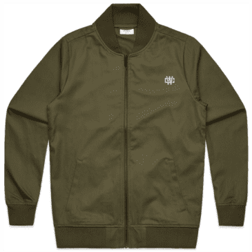 Working Class Monogram Embroidery Bomber Jacket - Army / Silver