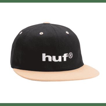 Huf 98 Logo 6 Panel Hat Black