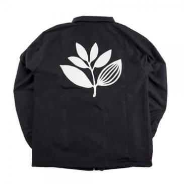 Magenta Nylon Plant Windbreaker - Black
