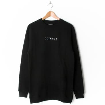 Öctagon Meta Crewneck Sweatshirt - Black