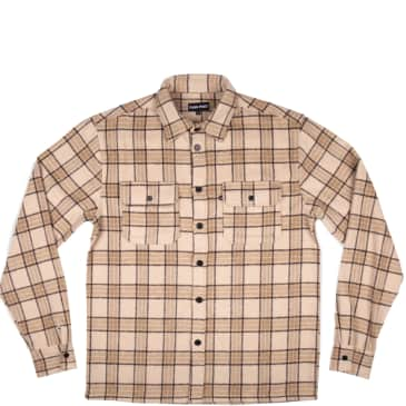 Pass~Port Workers Flannel Long Sleeve Shirt - Cream