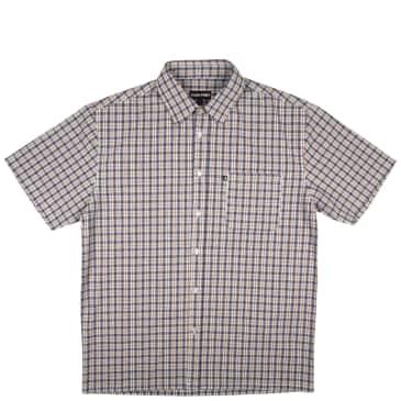Pass~Port Woven Check Shirt - Navy