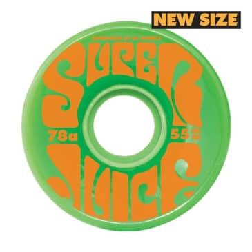 OJ Soft Wheels Mini Super Juice 78a Green 55MM