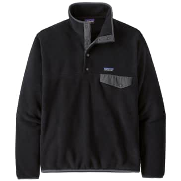 Patagonia Men's Lightweight Synchilla Snap-T Fleece Pullover - Black Forge Grey