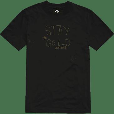 EMERICA STAY GOLD TEE - BLACK