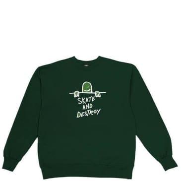 Thrasher Gonz Skate and Destroy Crewneck - Green