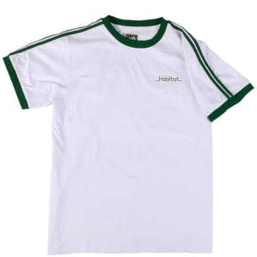 Habitat Skateboards Lines Ringer T-Shirt - White / Green