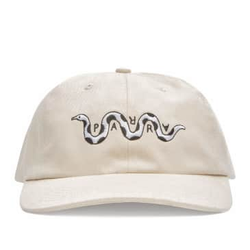 by Parra Snaked 6 Panel Hat - Off White
