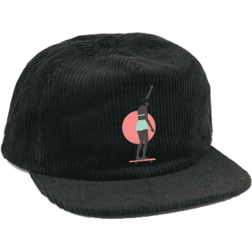 LESS THAN LOCAL - Solidarity Corduroy Hat Black
