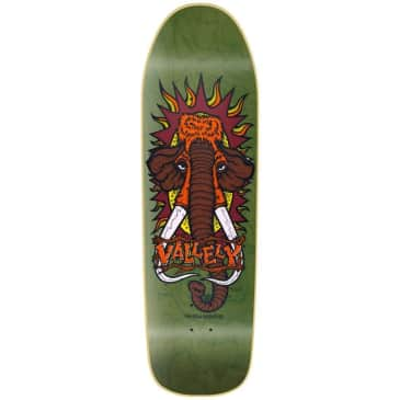 New Deal Mike Vallely Green Skateboard Deck - 9.5
