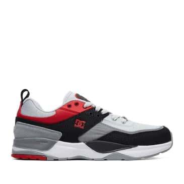 DC E. Tribeka Skate Shoes - Black / Athletic Red / Battleship Grey