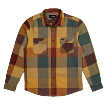 Brixton - Bowery L/S Flannel Shirt - Rust / Copper
