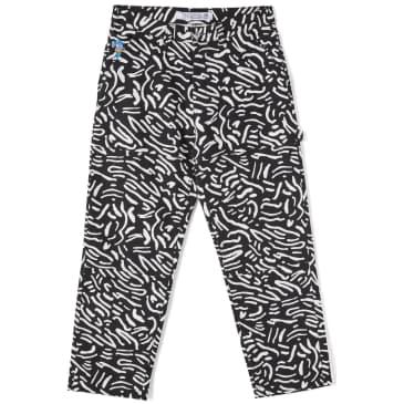 Polar Skate Co '93 Canvas Cell Pant - Black / White