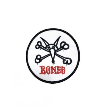 Bones Wheels Iron on Patch Vato Rat