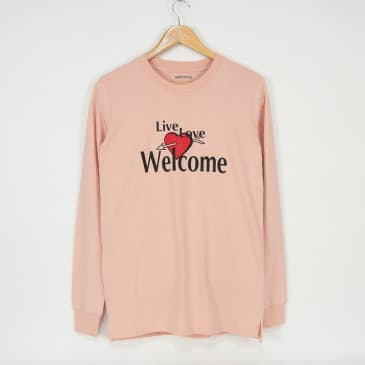 Welcome Skate Store - Live Love Longsleeve T-Shirt - Pale Pink