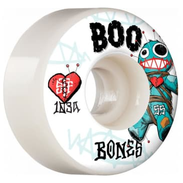 55mm V4 Wide 103A Boo Voodoo Wheels (White)