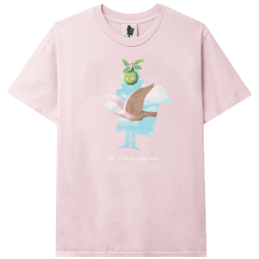 Real Bad Man This Is Not A Pipe T-Shirt - Bland Pink