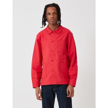 Le Laboureur Cotton Work Jacket - Red