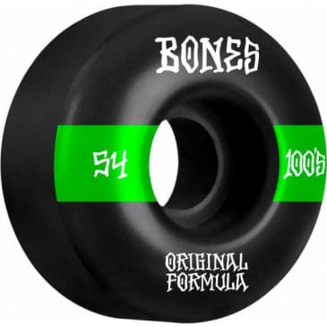 Bones 100's V4 Wide 54mm Wheels (Black)