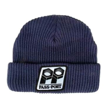 Pass~Port Bolt Patch Beanie - Navy