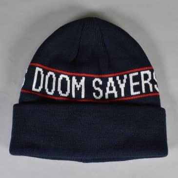 Doom Sayers - Wrap Beanie - Navy/Red