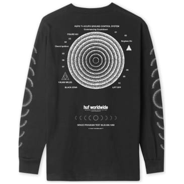 HUF Ground Control Long Sleeve T-Shirt - Black
